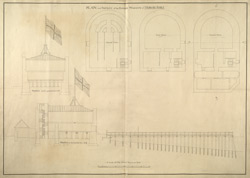 PLAN and PROFILES of the POWDER MAGAZIN of TILBURY FORT